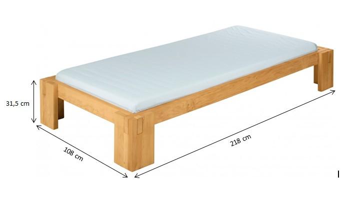 biokinder spar set dario bett mit r ckenlehne 90x200 cm erle. Black Bedroom Furniture Sets. Home Design Ideas