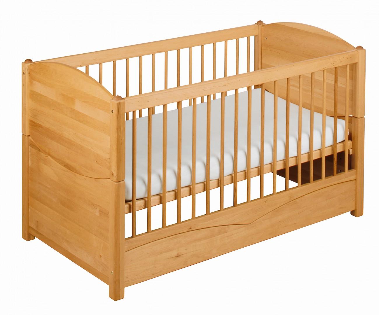 biokinder babybett kinderbett mit betthimmelhalter 70x140 bio massivholz erle ebay. Black Bedroom Furniture Sets. Home Design Ideas