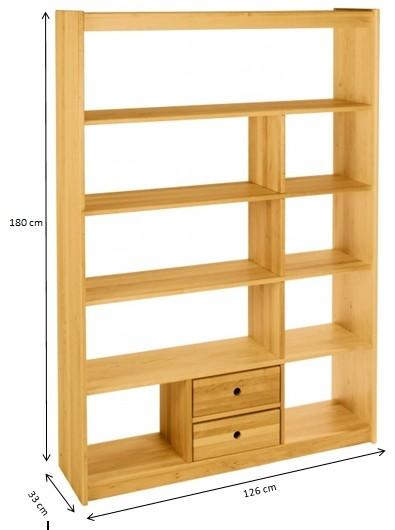 raumteiler regal b cherregal kinder kinderzimmer holz massivholz erle ge lt neu kaufen bei. Black Bedroom Furniture Sets. Home Design Ideas