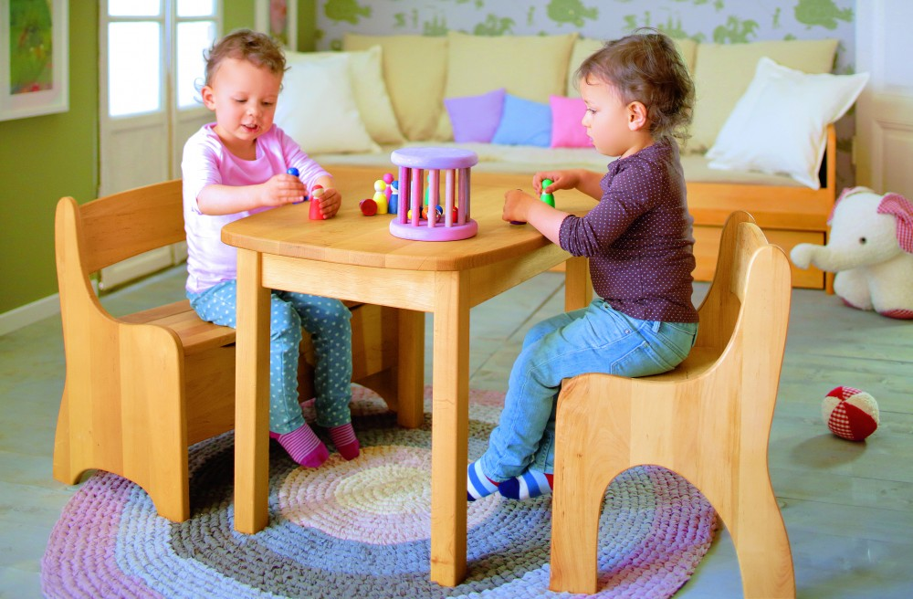 kindertisch und stuhl pintoy 2 tlg rechteckiges kinder. Black Bedroom Furniture Sets. Home Design Ideas