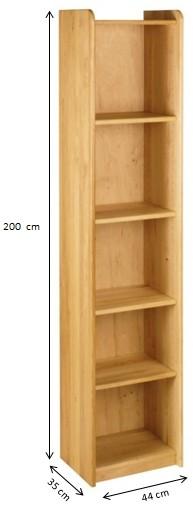 regal b cherregal kinderzimmer kinder erle massivholz holz ge lt 200 cm neu kaufen bei. Black Bedroom Furniture Sets. Home Design Ideas
