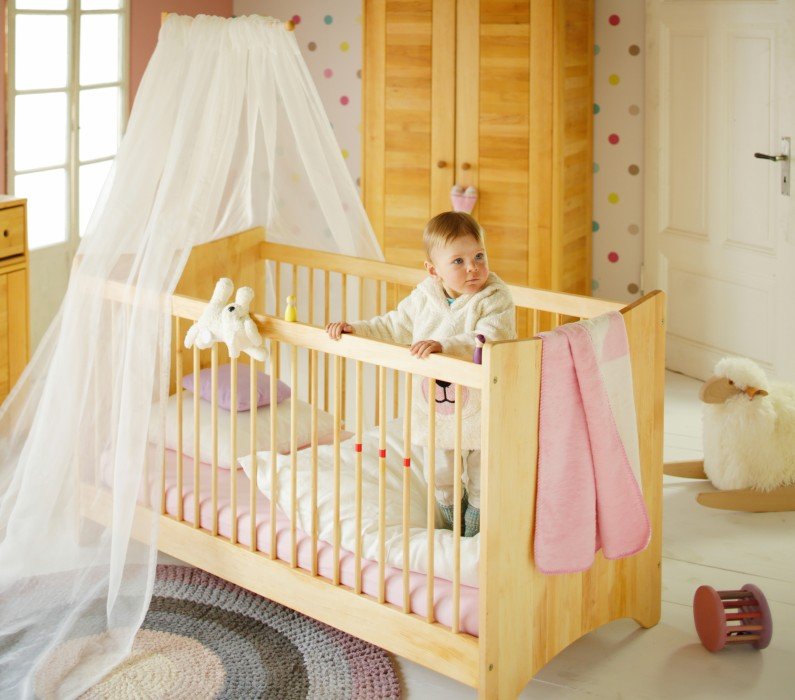 babybett kinderbett gitterbett baby umbaubar 70x140 holz erle massivholz neu kaufen bei. Black Bedroom Furniture Sets. Home Design Ideas