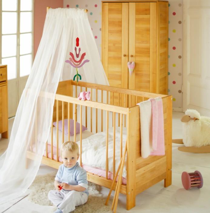 babybett kinderbett gitterbett holz bio erle massiv ge lt. Black Bedroom Furniture Sets. Home Design Ideas