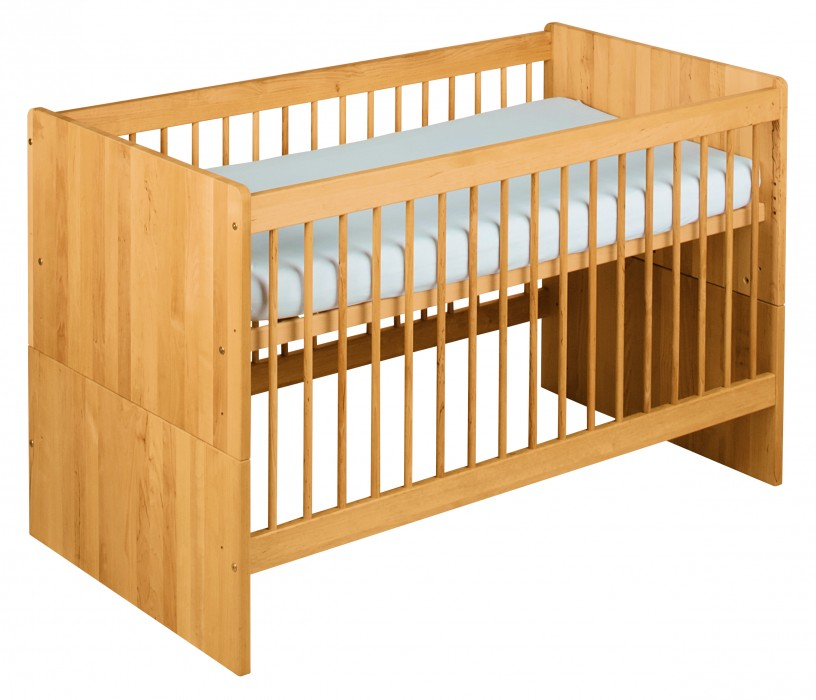babybett kinderbett gitterbett lattenrost juniorbett umbaubar holz erle massiv kaufen bei. Black Bedroom Furniture Sets. Home Design Ideas