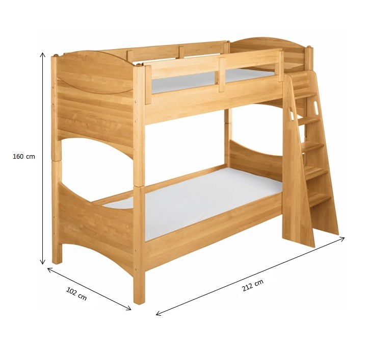 etagenbett stockbett hochbett lattenrost kinderbett holz erle massiv ge lt neu ebay. Black Bedroom Furniture Sets. Home Design Ideas