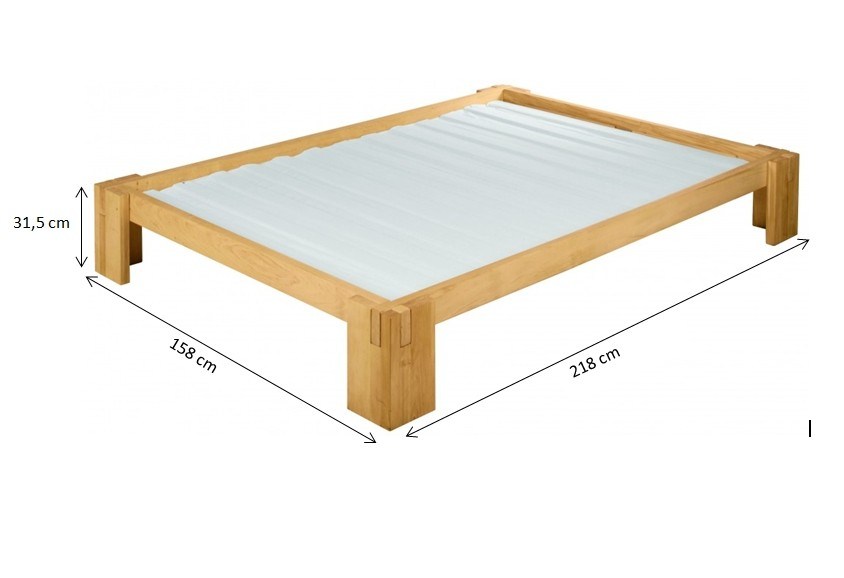 biokinder dario bett 140x200 cm erle. Black Bedroom Furniture Sets. Home Design Ideas