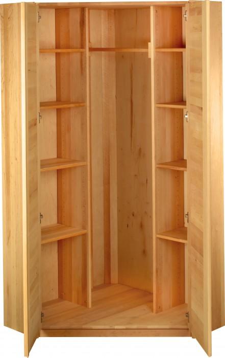 biokinder eck kleiderschrank erle massivholz eckschrank viel stauraum ge lt ebay. Black Bedroom Furniture Sets. Home Design Ideas