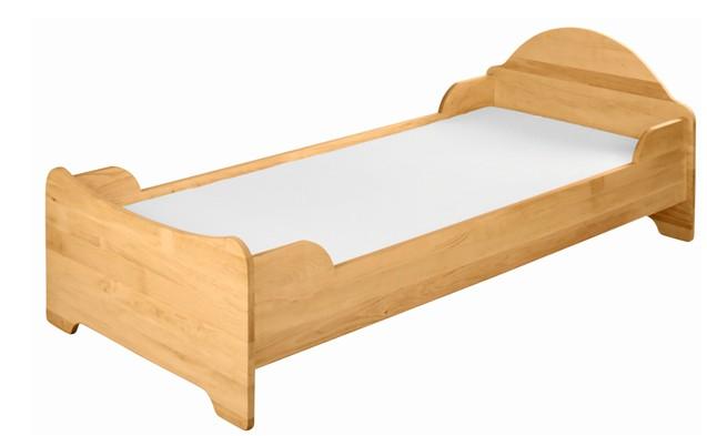 kinderbett jugendbett kinderzimmer 100x200 massivholz holz. Black Bedroom Furniture Sets. Home Design Ideas