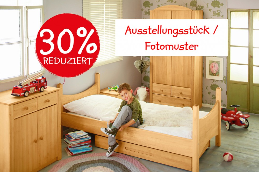 bett kinderbett jugendbett holz erle massiv naturholz ge hlt 90 200 uvp 399 95 ebay. Black Bedroom Furniture Sets. Home Design Ideas