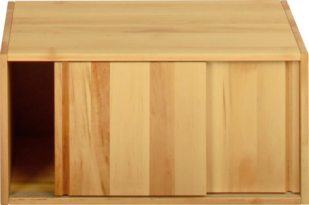 schrankelement schrank b cherregal schiebet ren 40x80x55 cm massivholz erle neu kaufen bei. Black Bedroom Furniture Sets. Home Design Ideas
