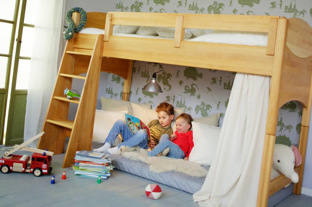 BioKinder  Spar-Set: Noah Kinder-Hochbett 100 cm Erle