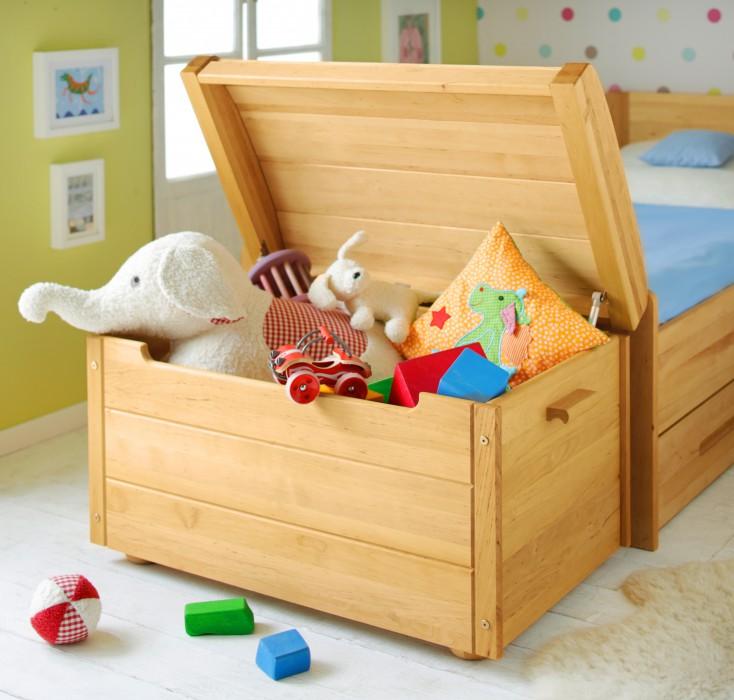 biokinder truhe aufbewahrung spielzeug kiste schatztruhe erle massivholz neu ebay. Black Bedroom Furniture Sets. Home Design Ideas