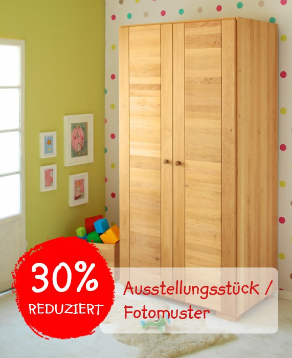 schrank kleiderschrank kinderzimmer 2 t rig massiv holz erle bio uvp 1299 95 ebay. Black Bedroom Furniture Sets. Home Design Ideas