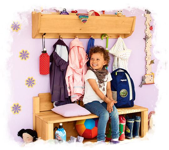 biokinder garderoben f r den kindergarten. Black Bedroom Furniture Sets. Home Design Ideas