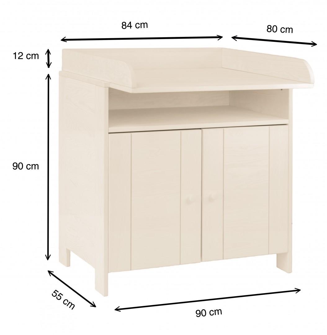 biokinder spar set niklas kommode mit wickelaufsatz kiefer wei lasiert. Black Bedroom Furniture Sets. Home Design Ideas