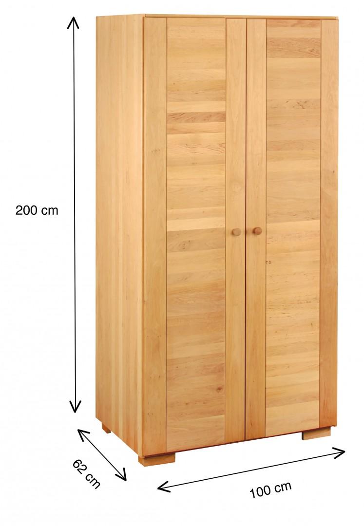 biokinder spar set kai kleiderschrank 2t rig mit aufsatz erle massivholz. Black Bedroom Furniture Sets. Home Design Ideas