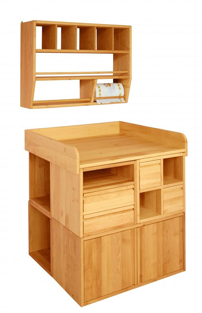 biokinder spar set laura wickeltisch 3 mit h ngeregal. Black Bedroom Furniture Sets. Home Design Ideas