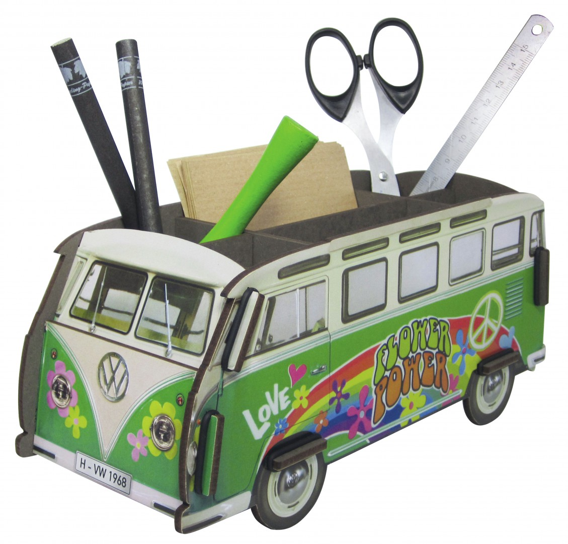 biokinder stiftebox vw bus hippie werkhaus. Black Bedroom Furniture Sets. Home Design Ideas