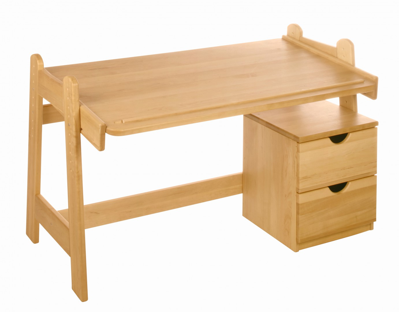 biokinder spar set leon kinderschreibtisch mit rollcontainer erle. Black Bedroom Furniture Sets. Home Design Ideas