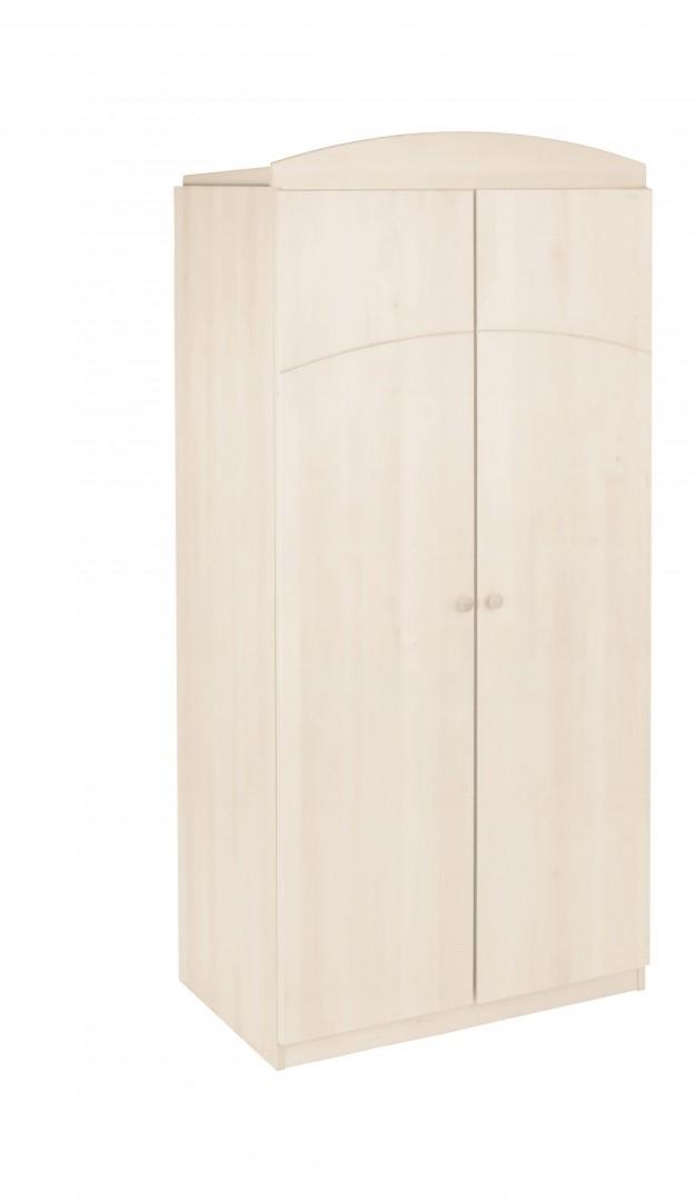 biokinder leonie kleiderschrank kiefer wei lasiert. Black Bedroom Furniture Sets. Home Design Ideas
