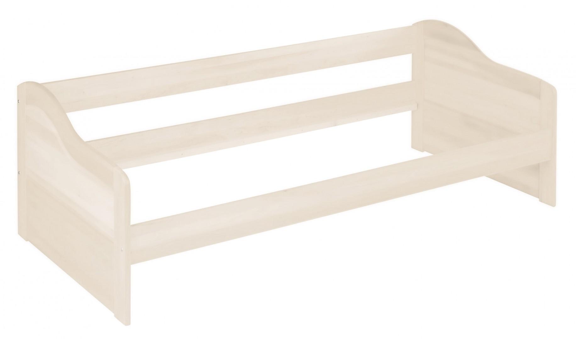 biokinder nico funktionsbett schlafsofa 90x200 cm kiefer wei lasiert. Black Bedroom Furniture Sets. Home Design Ideas