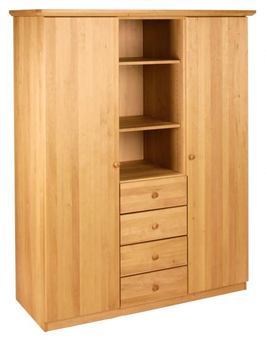 biokinder lena kleiderschrank 3 teilig erle. Black Bedroom Furniture Sets. Home Design Ideas