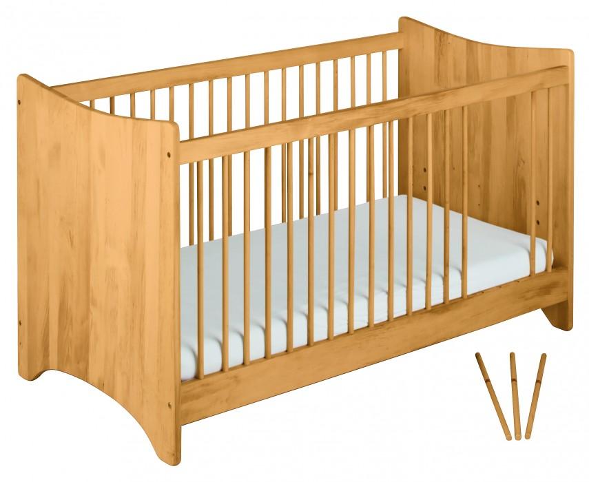 biokinder emma babybett kinderbett 70x140 cm massivholz erle. Black Bedroom Furniture Sets. Home Design Ideas