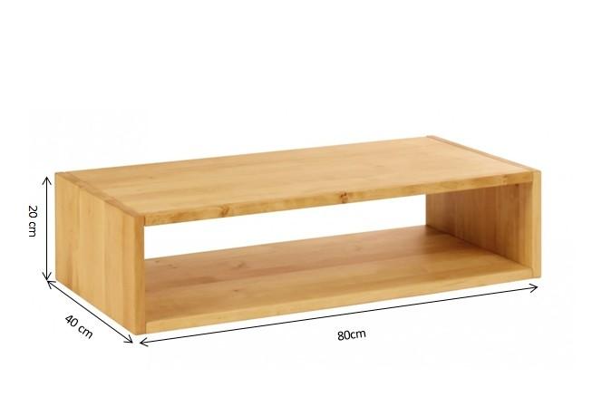 biokinder laura regalw rfel offen 20x80 cm erle. Black Bedroom Furniture Sets. Home Design Ideas