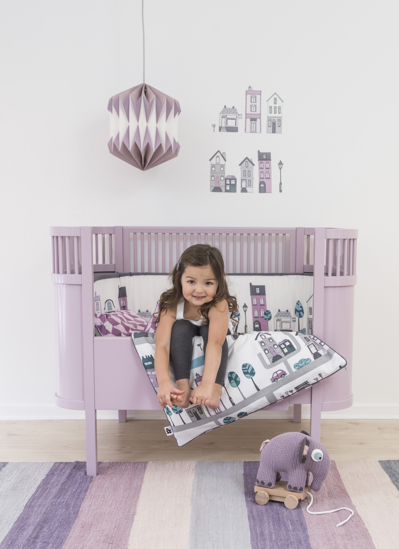 sebra babybett kili kinderbett baby birkenholz pastell lila ko 70x110 neu ebay. Black Bedroom Furniture Sets. Home Design Ideas