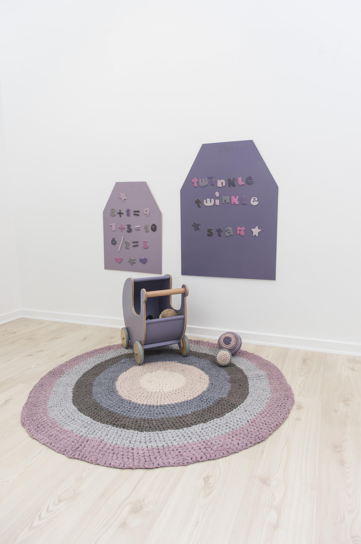 biokinder h kel teppich kinderteppich rund aus baumwolle pastell ros sebra interior. Black Bedroom Furniture Sets. Home Design Ideas