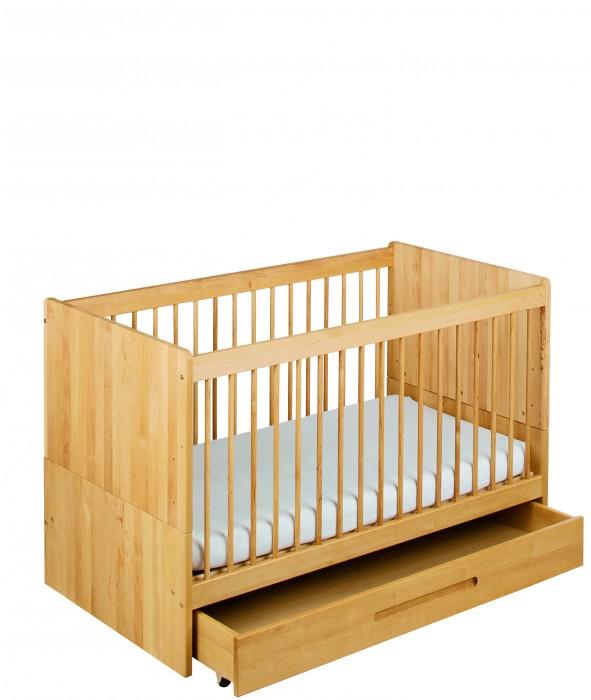 biokinder lina bettkasten f r babybett 70x140 cm erle. Black Bedroom Furniture Sets. Home Design Ideas