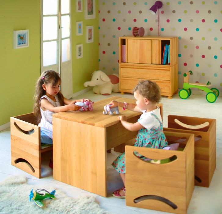 biokinder biokinder 2er set kinderhocker hocker stuhl erle massivholz 40x40. Black Bedroom Furniture Sets. Home Design Ideas