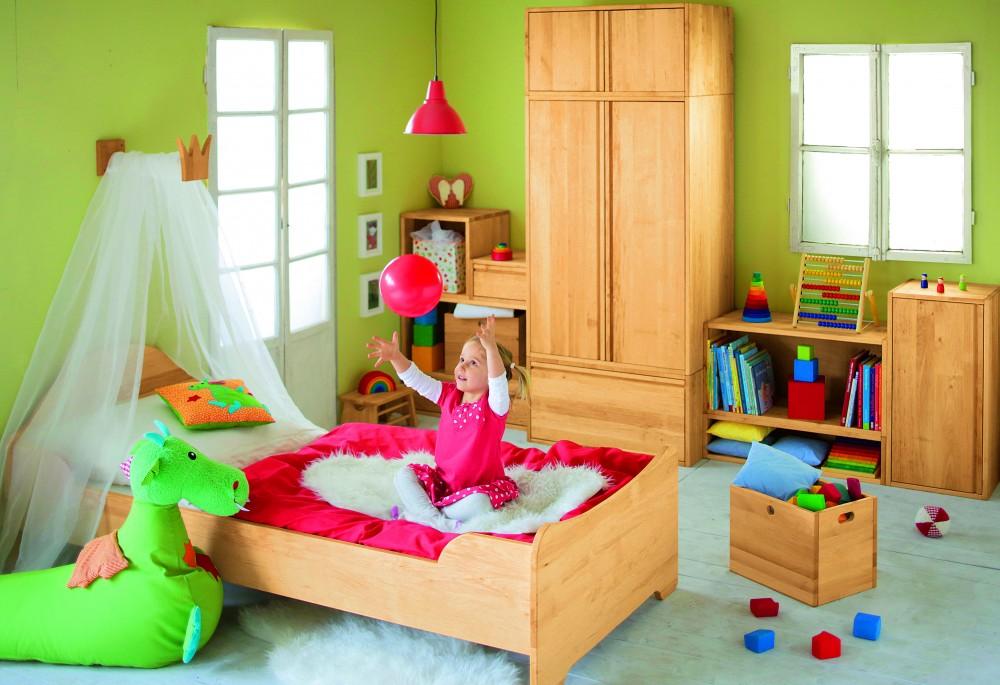 Biokinder betthimmel halter prinzessin 44 cm erle for Schlaufenvorhang kinderzimmer