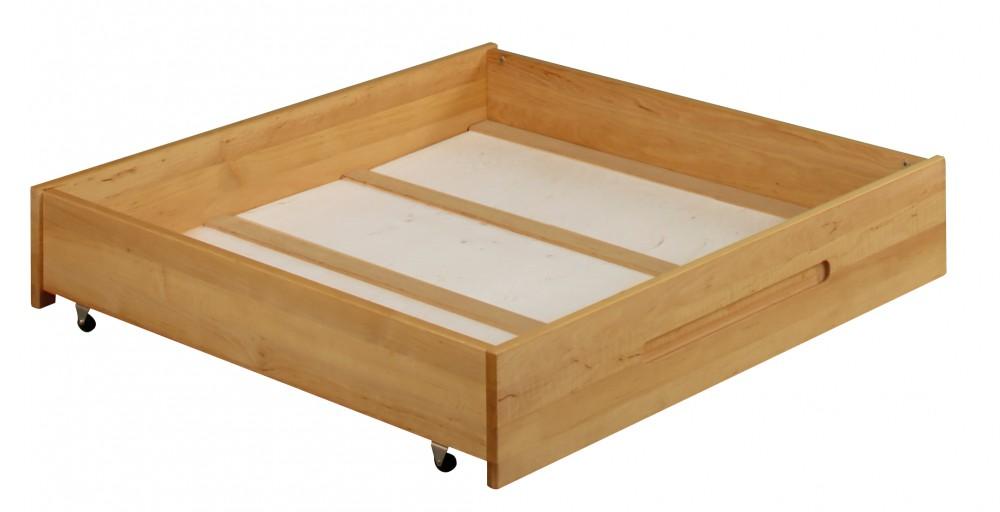 biokinder bettkasten schublade unterbettkasten mit rollen 90x100 cm massivholz ebay. Black Bedroom Furniture Sets. Home Design Ideas
