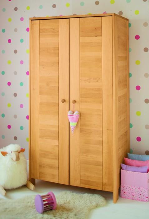 biokinder niklas kleiderschrank erle. Black Bedroom Furniture Sets. Home Design Ideas