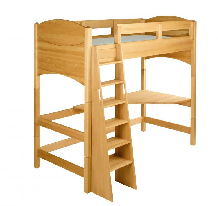 biokinder spar set noah kinder hochbett 160 cm erle. Black Bedroom Furniture Sets. Home Design Ideas
