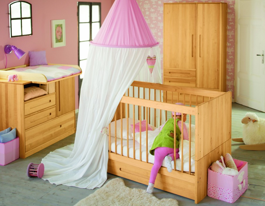 biokinder spar set lina babybett mit bettkasten 70x140. Black Bedroom Furniture Sets. Home Design Ideas